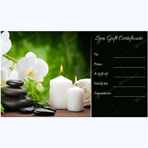 spa day gift certificate template bring in clients with spa gift certificate templates