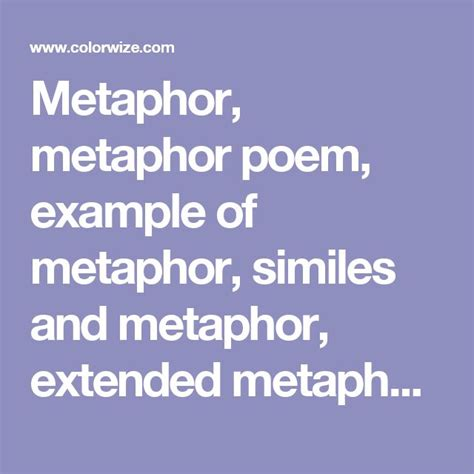 exle of extended metaphor best 25 metaphor poem exles ideas on alliteration definition simile and