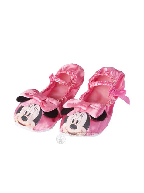 minnie mouse shoe slippers child disney minnie mouse pink ballet shoes fancy dress