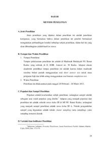 Alat Tes Mata studi komparasi hasil tes mata pelajaran fiqh materi pokok puasa ramadhan antara alat tes
