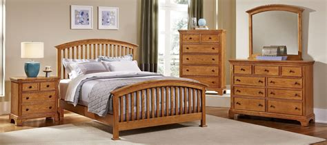 Forsyth Medium Oak Arched Bedroom Set From Vaughan Bassett Medium Oak Bedroom Furniture