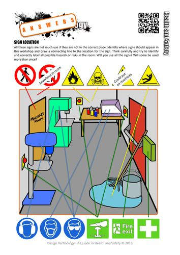 design technology cover worksheets health and safety worksheets and activities full set by