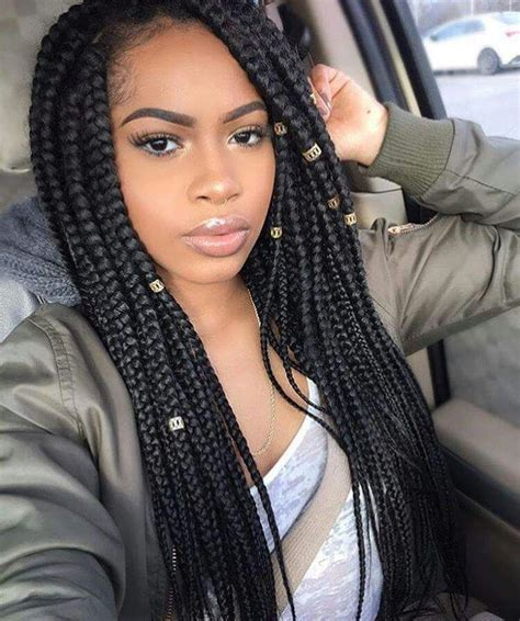 Black Braid Hairstyles by 1000 Ideas About Box Braid Styles On Box