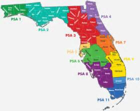 florida state map by county florida department of elder affairs services in each