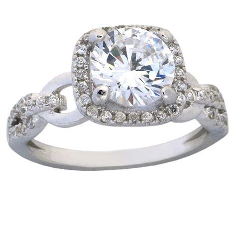 antique 1 50 carat cubic zirconia engagement ring in