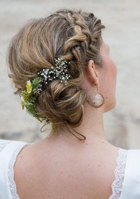 Hochzeitsfrisur Geflochten Blumen by Flechtfrisuren Mit Blumen
