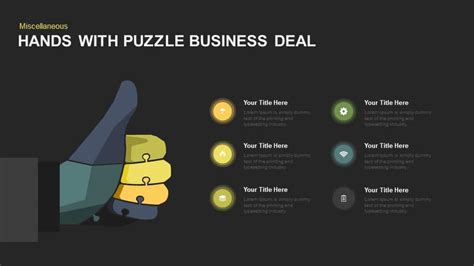 Hands With Puzzle Business Deal Powerpoint And Keynote Deal Or No Deal Powerpoint Template