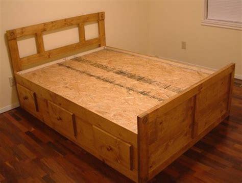 custom full size  queen size platformcaptains bed