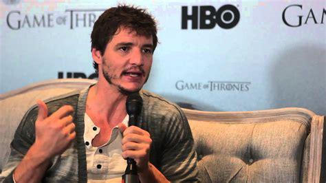 chilean actor game of thrones pedro pascal de game of thrones en entrevista youtube