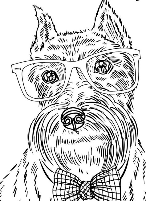 coloring pages of dogs for adults dogs coloring pages difficult coloring home