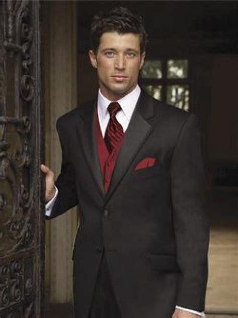 black suit red shirt with vest burgundy wedding black suit red vest for groomsmen