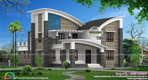 home layout styles modern style curved roof villa home inspiration