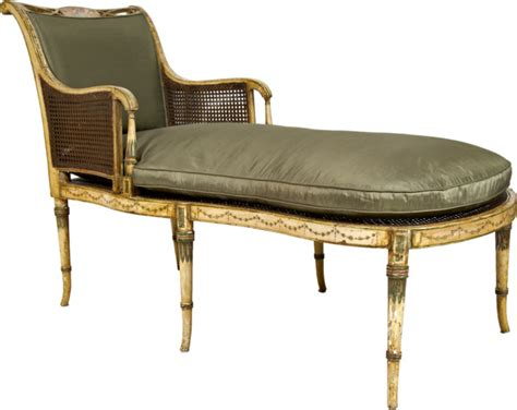 antique chaise lounge chairs consigned antique sheraton painted fainting couch c 1810