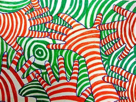 hand pattern art lesson the smartteacher resource optical illusion hands