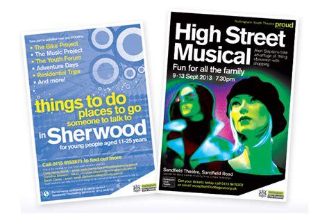 poster design nottingham andrew burdett design public sector leaflet design company