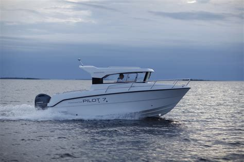 fishing boat with engine finnmaster pilot 7 weekend fishing boat with yamaha f150hp
