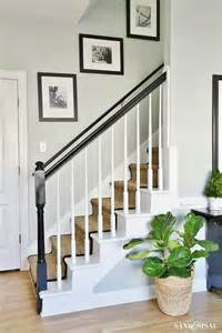 Painted Staircase Makeover With Seagrass Painted Staircase Makeover With Seagrass Stair Runner