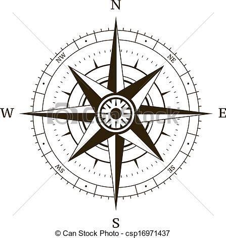 vecteurs de rose vent compas navigation compas vent
