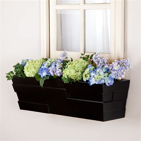 fiberglass window boxes patio window boxes w self watering option hooks lattice