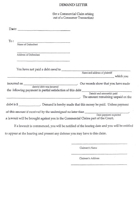 Demand Letter Post Judgment 10 Best Images Of Demand Letter Form Settlement Demand Letter Sle Small Claims Court