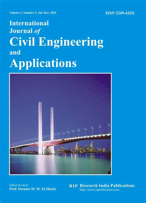 ijcea international journal  civil engineering  applications computer science journals