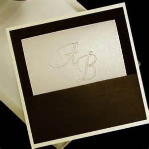 100 boxed couture wedding invitations chocolate brown and