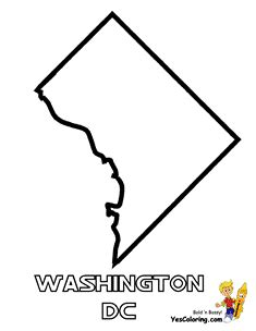 washington dc map silhouette mighty map coloring pages tennessee wyoming free