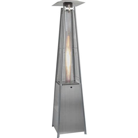 Commercial Patio Heater Sense 46 000 Btu Stainless Steel Propane Gas Commercial Patio Heater 01775 The Home Depot