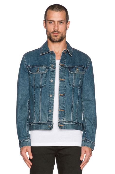 Denim Jackets For by A P C Veste Jean Us Denim Jacket In Blue For Lyst