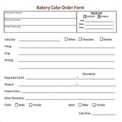 Cake Order Form Template by Bakery Order Template 12 Free Excel Pdf Documents