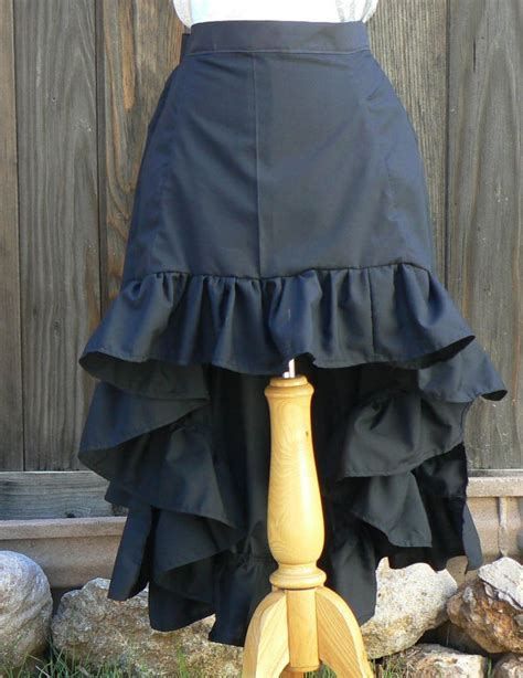 steunk high low tiered bustle skirt costume