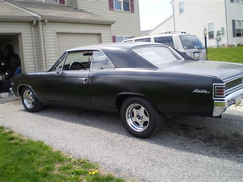 How Big Is A 2 Car Garage by Black 1967 Chevrolet Malibu For Sale Mcg Marketplace