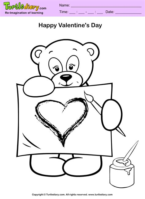 valentine be my valentine free coloring pages