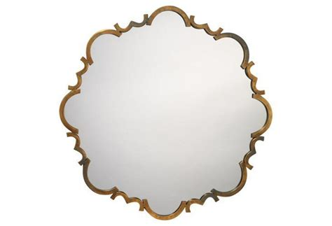 st albans wall mirror antiqued gold hallway