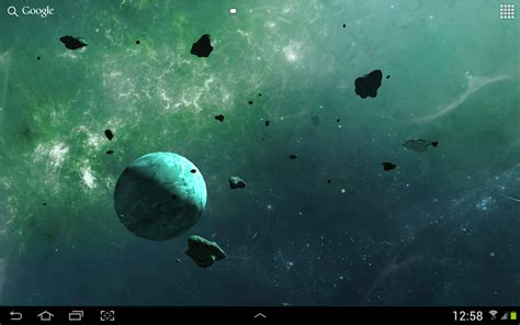 live wallpapers android asteroids 3d live wallpaper free android live wallpaper appraw