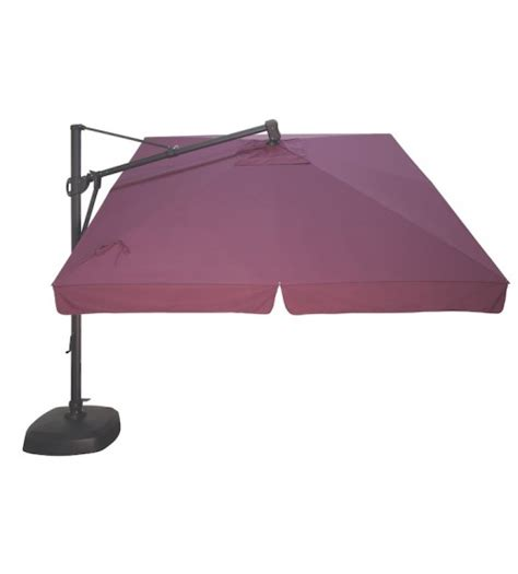 Square Cantilever Patio Umbrella Sunbrella Treasure Garden 10 Foot Square Cantilever Patio Umbrella