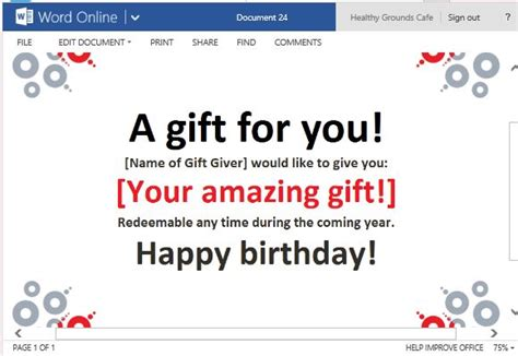 free gift certificate templates powerpoint templates free ppt