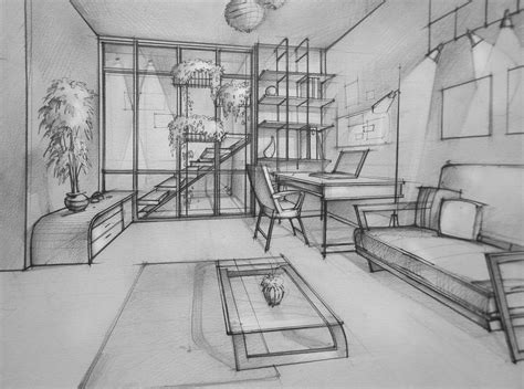 draw a room the gallery for gt one point perspective living room drawing