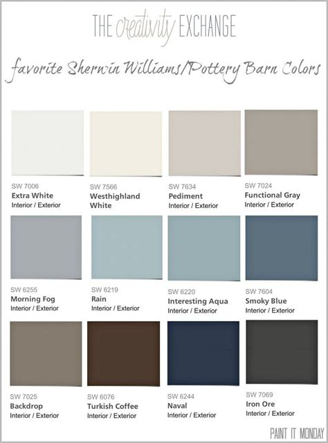 sherman williams colors pottery barn colors on pottery barn paint