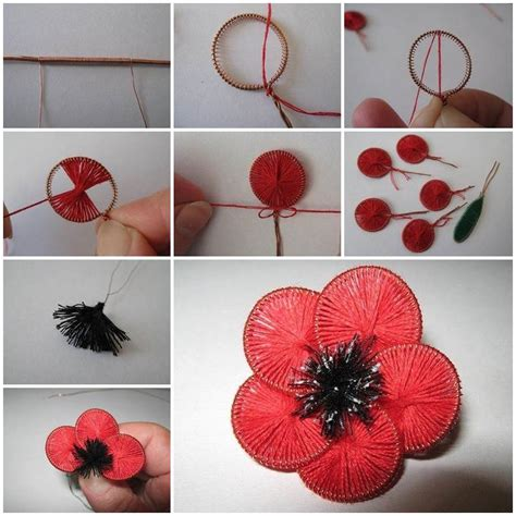 How To Make Paper Ribbon Flowers - how to make beautiful flowers from wire and thread