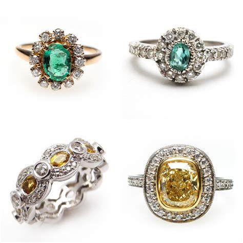 vintage engagement rings by weston jewelry 183 ruffled