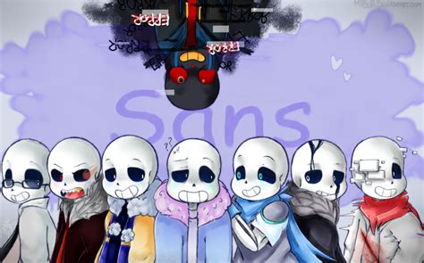 a lot of sansys by mibur on deviantart