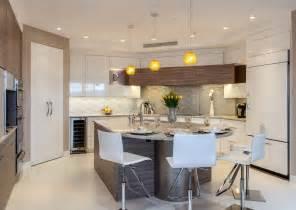 Flat panel cabinets with unique gleaming backsplash granite