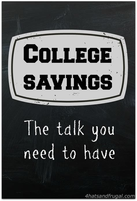 College Savings Gift Card - college savings the talk you need to have 4 hats and frugal