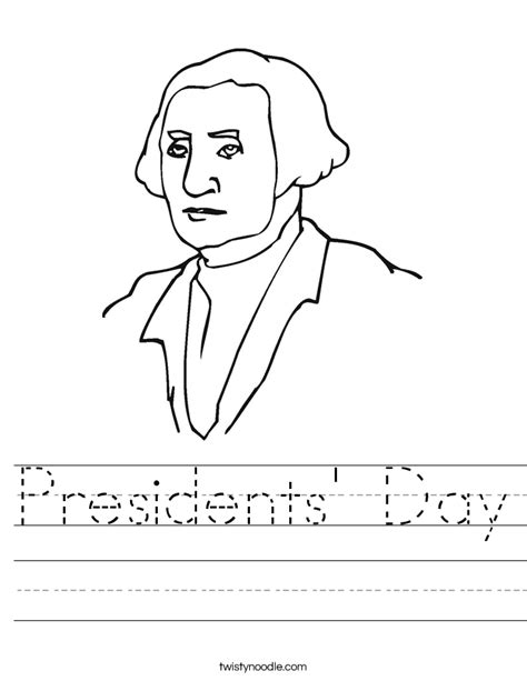 preschool coloring pages presidents day presidents day worksheet twisty noodle