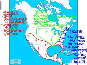 european claims in america map colonial america mr cvelbar s u s history page