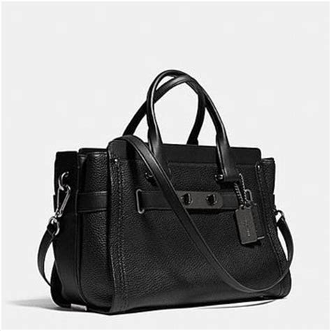 Coach Swagger Carryall 3 Tone Large Handbags 2945 Ms coach swagger carryall in nubuck pebble from coach bags etc