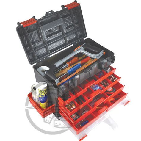 kennedy professional plastic tool box chest 4 drawer ebay