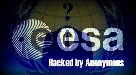 anonymous hacks european space agency    lulz