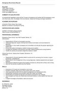 emergency room resume skills emergency room resume sles